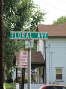 Floral Ave Street Sign