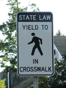 State Law Yield to Pedestrians