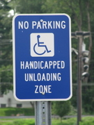 Handicapped Unloading Zone