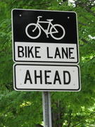 Bike Lane Ahead