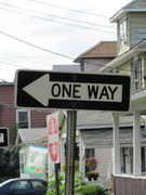 One Way Left Arrow