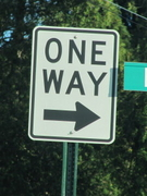 One Way Right Arrow